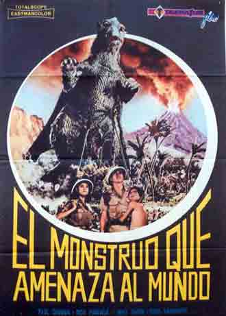 Spanish poster from the movie Monster From A Prehistoric Planet (Daikyojû Gappa)