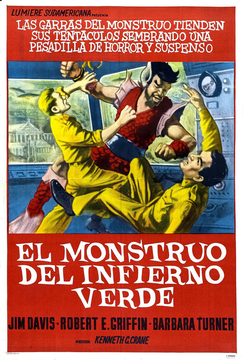 Affiche argentine de 'Monster from Green Hell'
