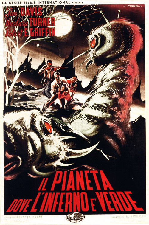 Affiche italienne de 'Monster from Green Hell'