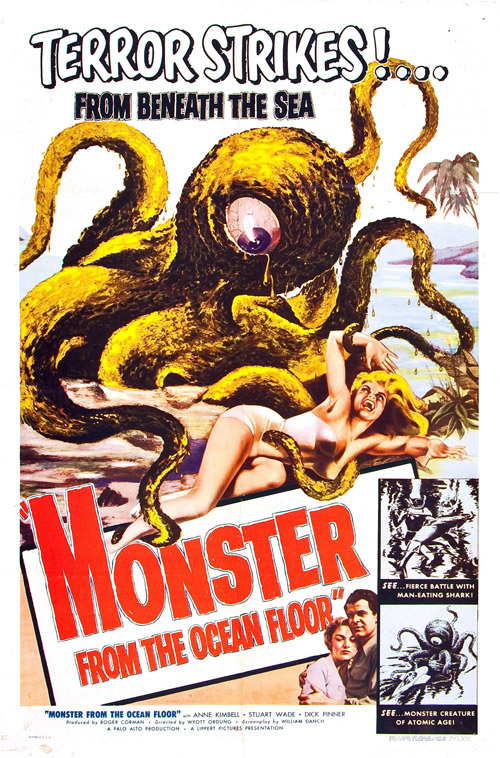 Affiche américaine de 'Monster From the Ocean Floor'