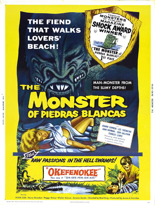Us poster from the movie The Monster of Piedras Blancas