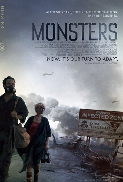 Affiche britannique de 'Monsters'