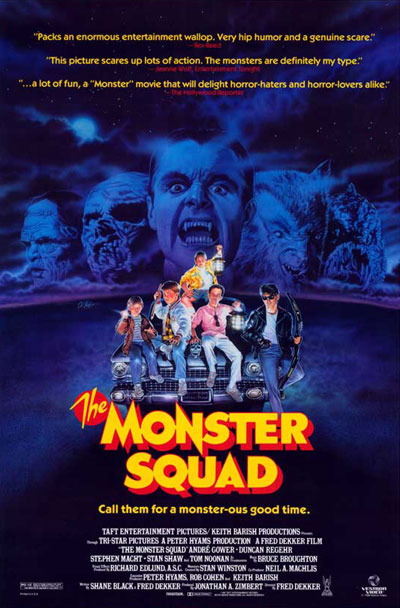 Affiche américaine de 'The Monster Squad'