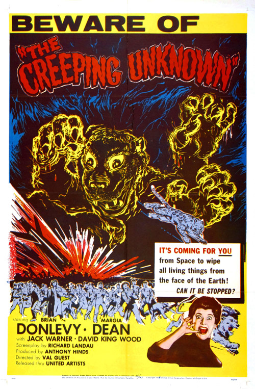 Us poster from the movie The Quatermass Xperiment