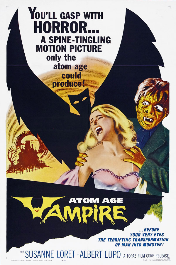Us poster from the movie Atom Age Vampire (Seddok, l'erede di Satana)