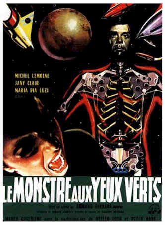 French poster from the movie The Monster With Green Eyes (I pianeti contro di noi)
