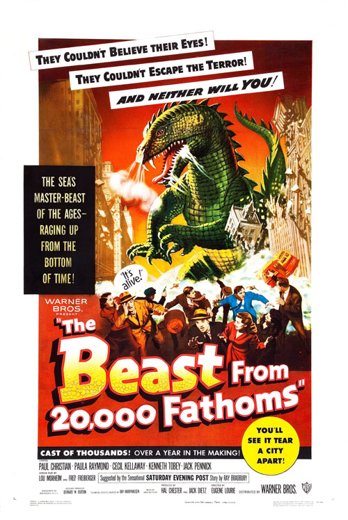 Us poster from the movie The Beast from 20,000 Fathoms