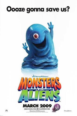 Us poster from the movie Monsters vs Aliens