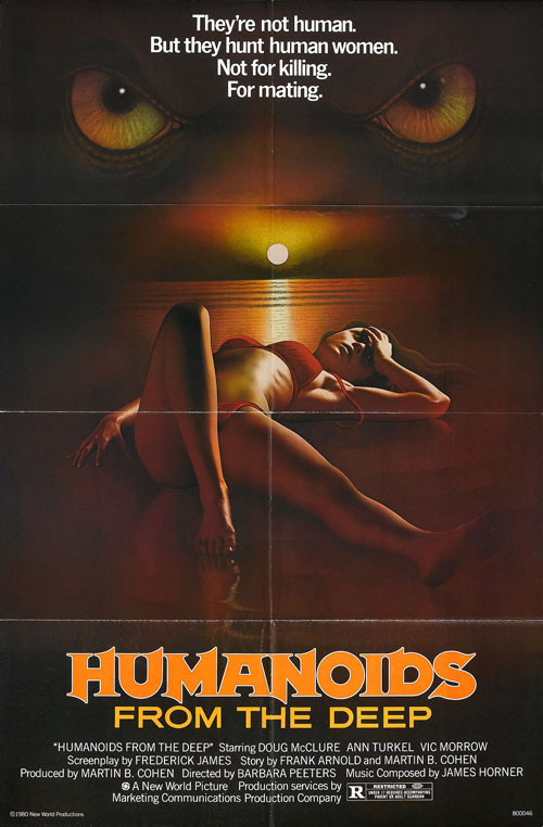 Us poster from the movie Humanoids from the Deep