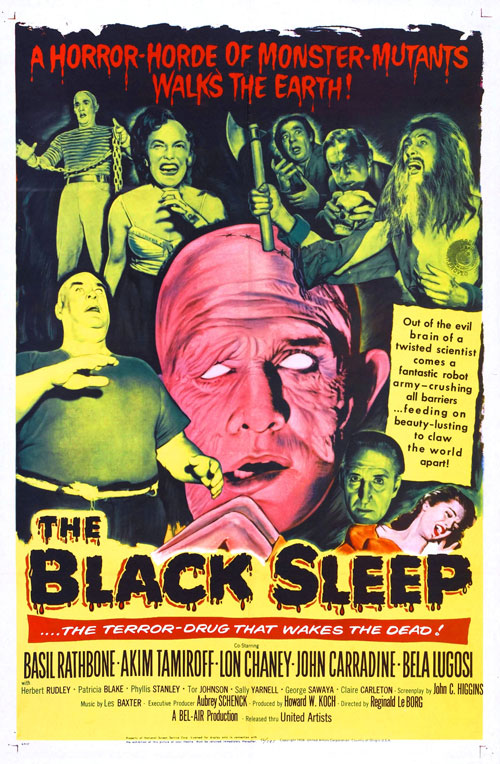 Us poster from the movie The Black Sleep