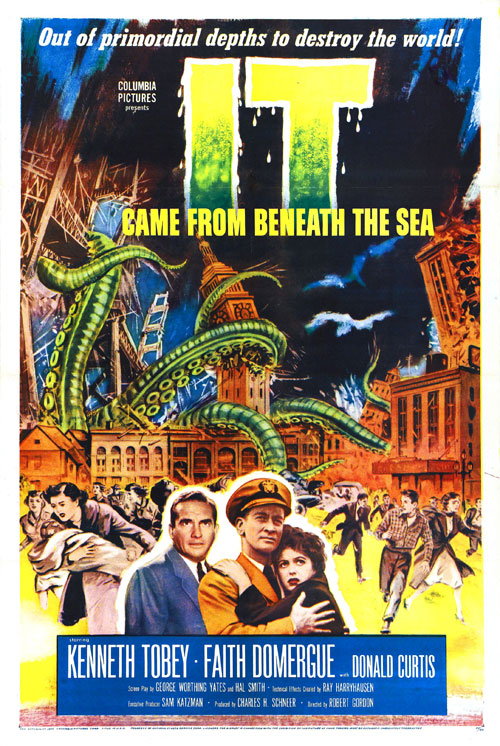 Affiche américaine du film Le monstre surgit des mers (It Came from Beneath the Sea)