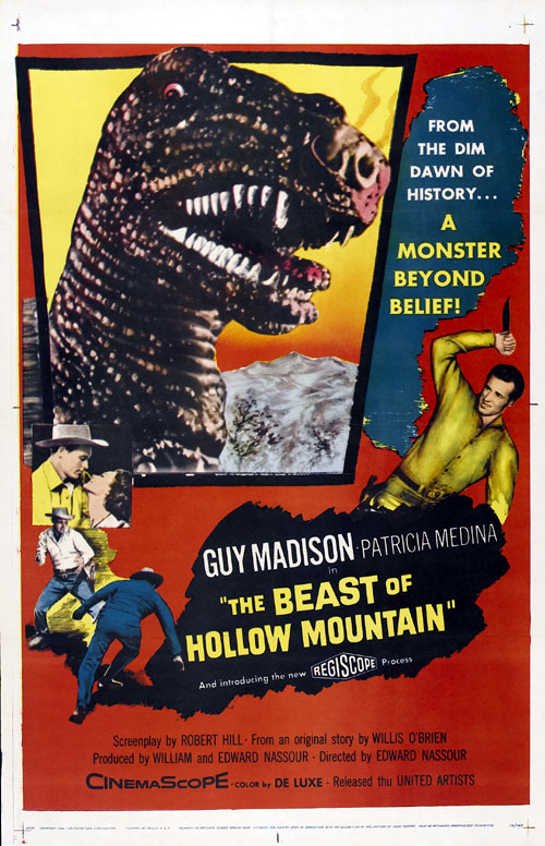 Us poster from the movie The Beast of Hollow Mountain