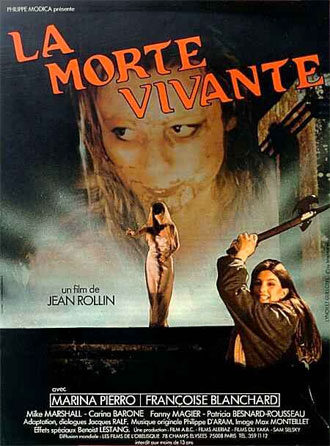 French poster from the movie The Living Dead Girl (La morte vivante)