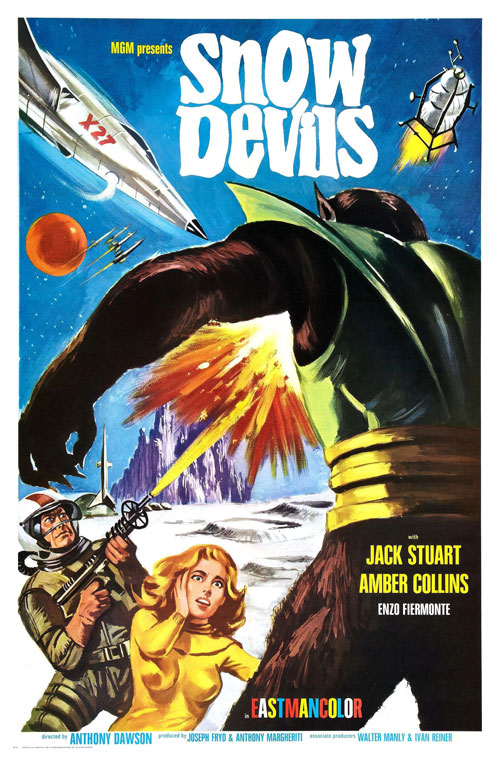 Us poster from the movie Snow Demons (La morte viene dal pianeta Aytin)