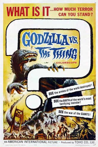 Us poster from the movie Godzilla vs. the Thing (Mosura tai Gojira)