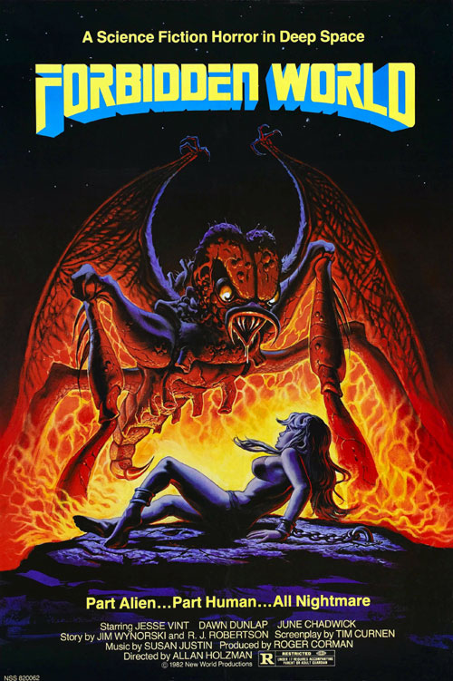Us poster from the movie Forbidden World