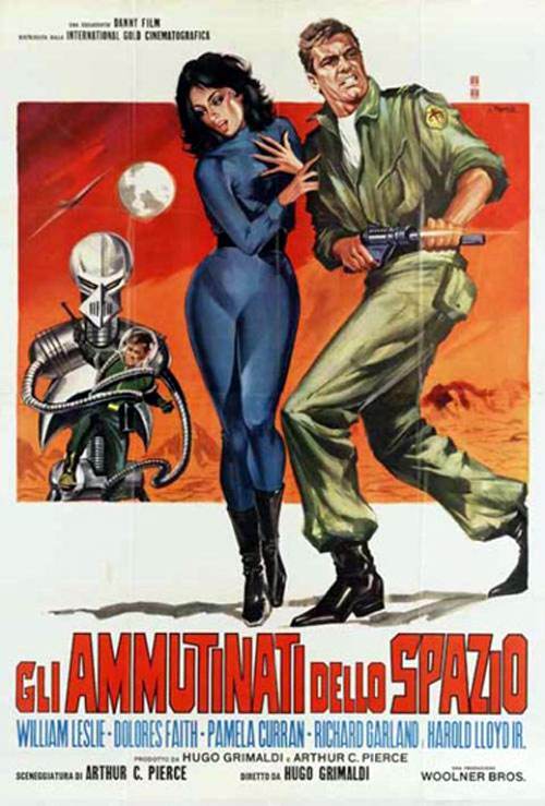 Affiche italienne de 'Mutiny in Outer Space'