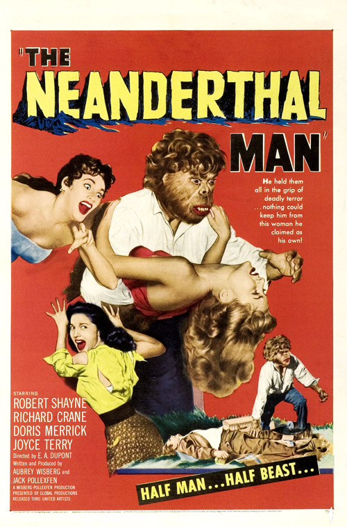 Us poster from the movie The Neanderthal Man