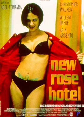 French poster from the movie New Rose Hotel