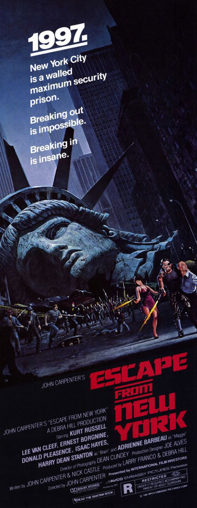 Affiche américaine de 'New York 1997'