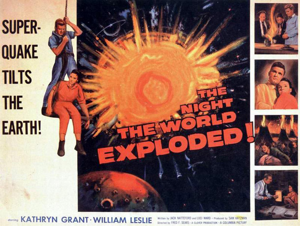 Affiche américaine de 'The Night the World Exploded'