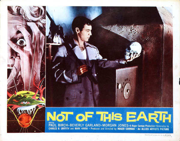 Affiche américaine de 'Not of This Earth'