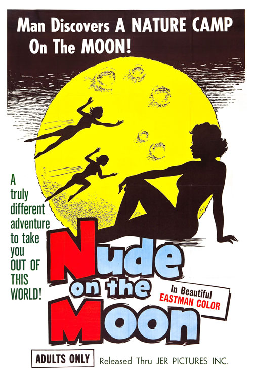 Affiche américaine de 'Nude on the Moon'