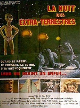 French poster from the movie The Day Time Ended