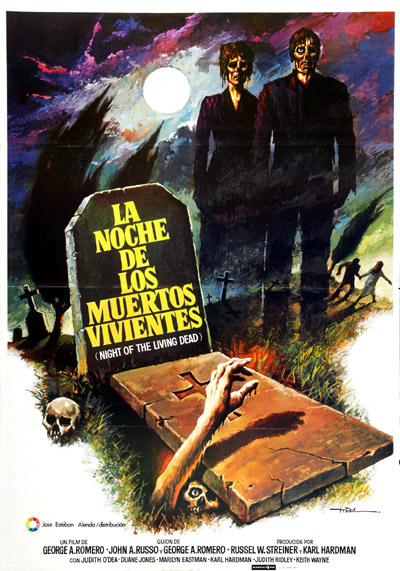 Affiche mexicaine de 'La nuit des morts-vivants'