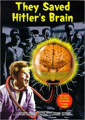 French poster from the TV movie They Saved Hitler's Brain