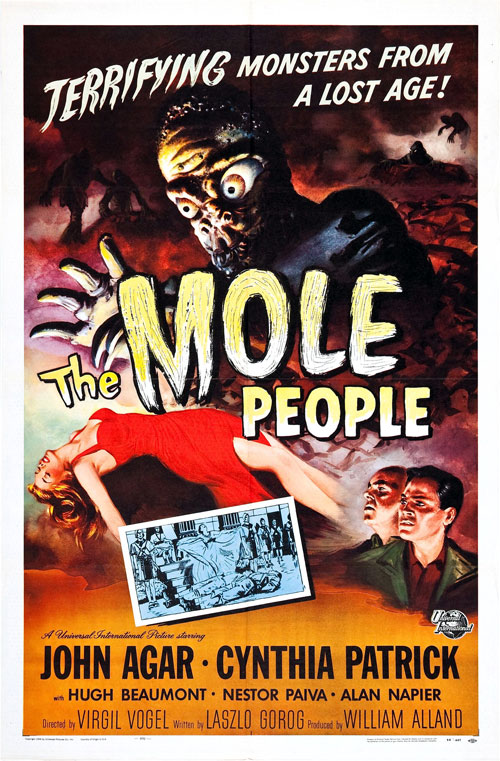 Us poster from the movie The Mole People