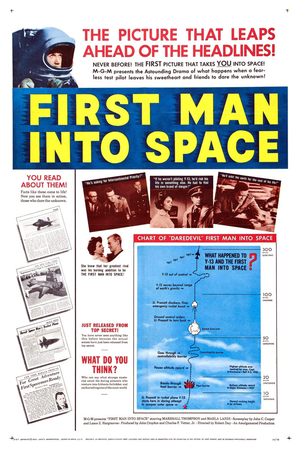 Us poster from the movie The First Man Into Space (First Man Into Space)