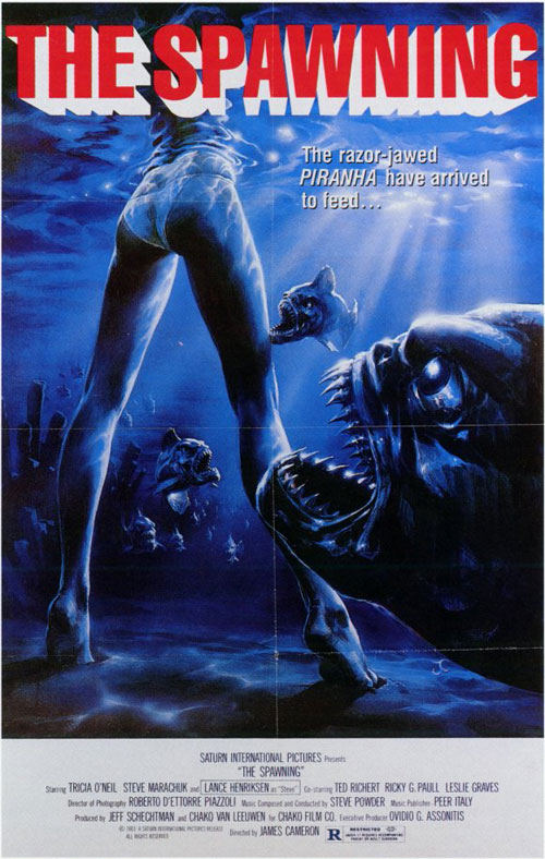Us poster from the movie Piranha Part Two: The Spawning