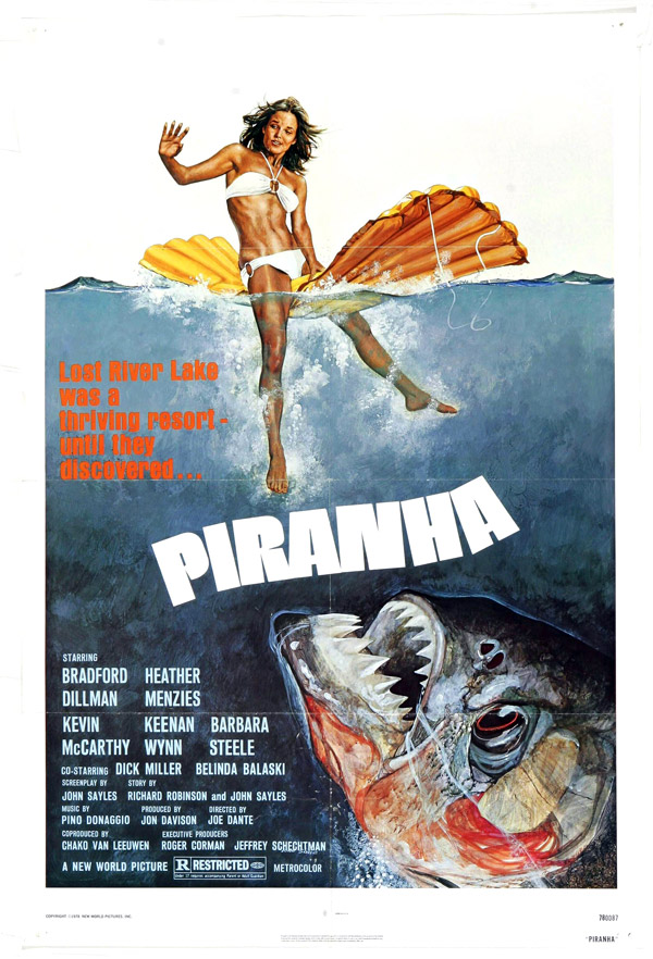 Us poster from the movie Piranha