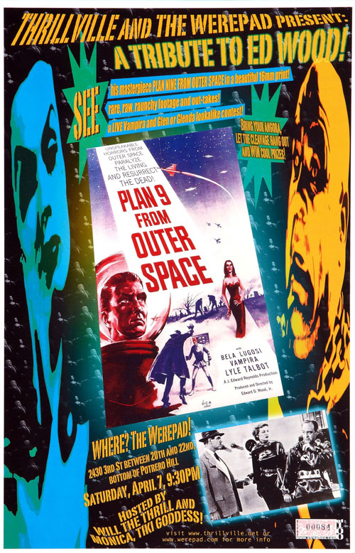 Affiche américaine de 'Plan 9 From Outer Space'