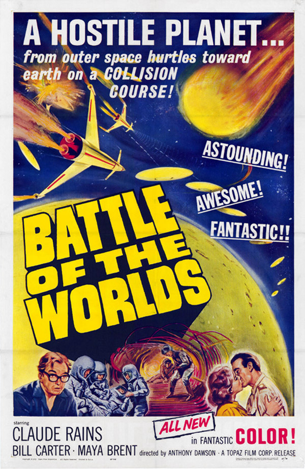 Us poster from the movie Battle of the worlds (Il pianeta degli uomini spenti)