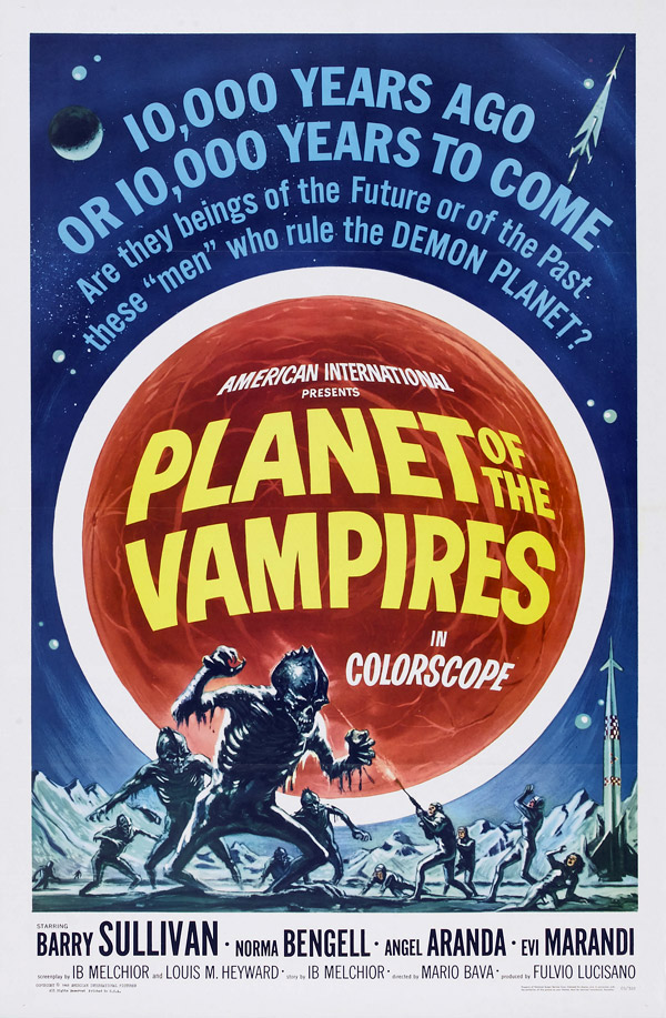 Us poster from the movie Planet of the Vampires (Terrore nello spazio)