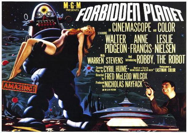 Forbidden Planet 1956 Movie Poster 8 Scifi Movies