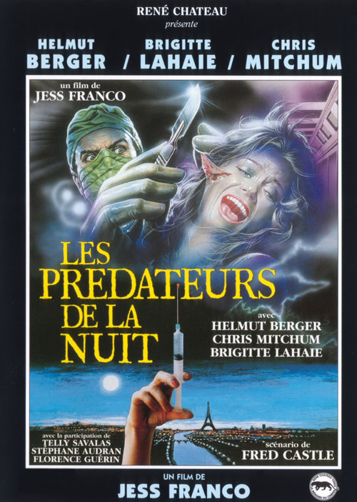 French poster from the movie Faceless