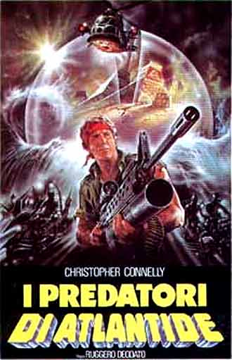 Italian poster from the movie The Raiders of Atlantis (I predatori di Atlantide)
