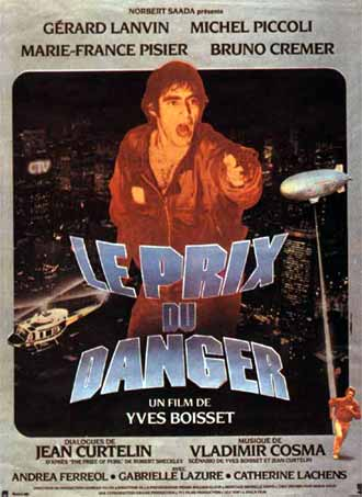French poster from the movie The Prize of Peril (Le prix du danger)
