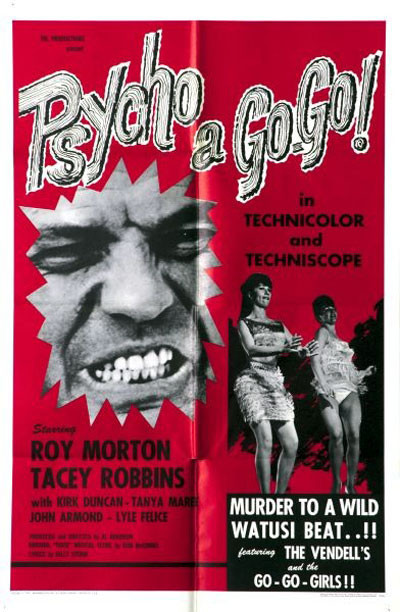 Us poster from the movie Psycho a Go-Go
