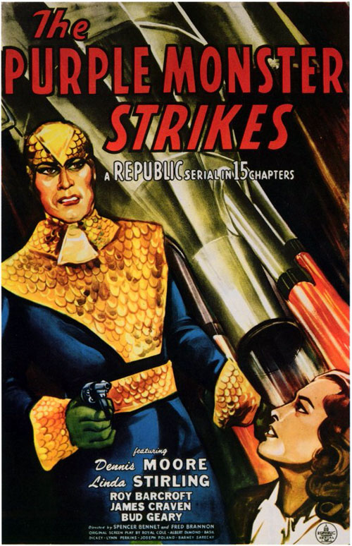 Us poster from the movie The Purple Monster Strikes
