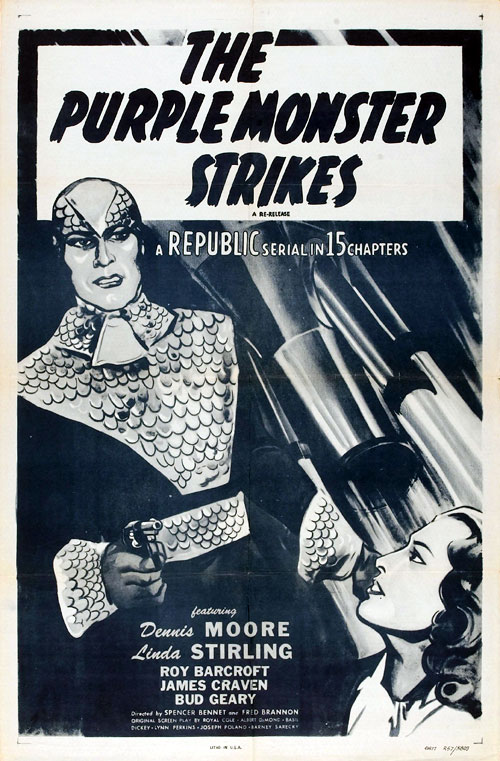 Affiche américaine de 'The Purple Monster Strikes'