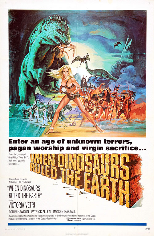 Unknown poster from the movie When Dinosaurs Ruled the Earth