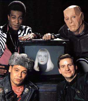 Left to Right and Up to Down Cat, Kryten, Holly, Lister, Rimmer - Red Dwarf