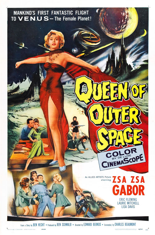 Us poster from the movie Queen of Outer Space