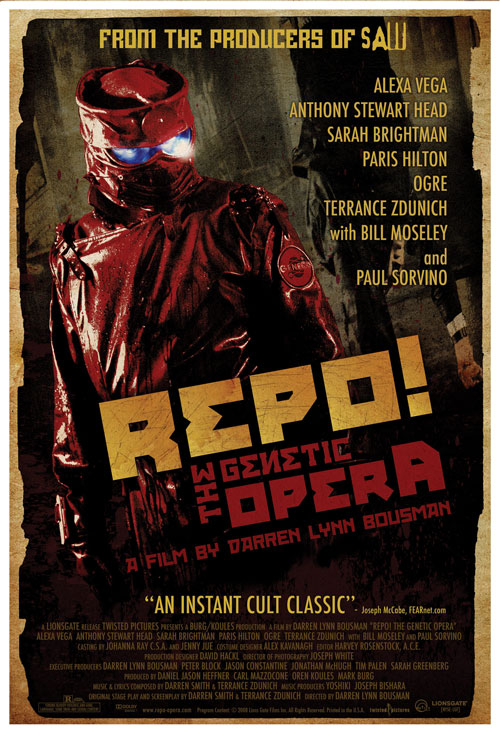 Us poster from the movie Repo! The Genetic Opera