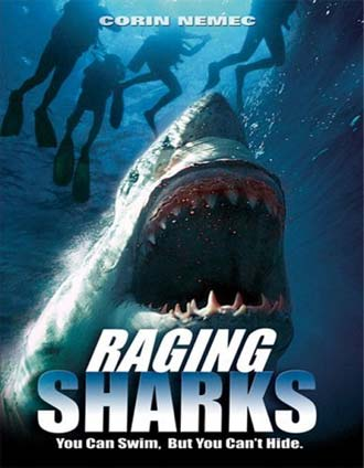 Unknown poster from the movie Raging Sharks