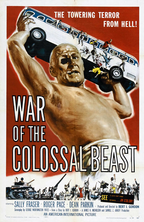 Us poster from the movie War of the Colossal Beast